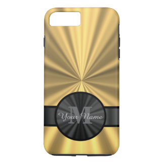 Chic elegant gold personalized monogram iPhone 8 plus/7 plus case