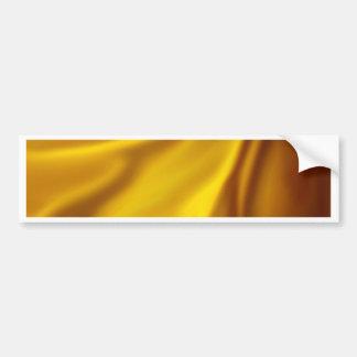 chic elegant golden silk textile customize healing bumper stickers