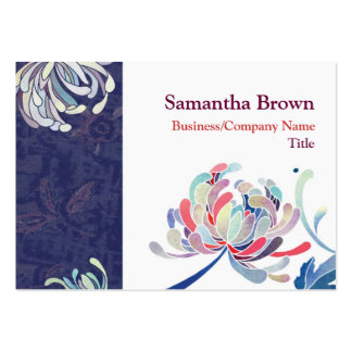 Chic Elegant Mums Blue and White Business Cards