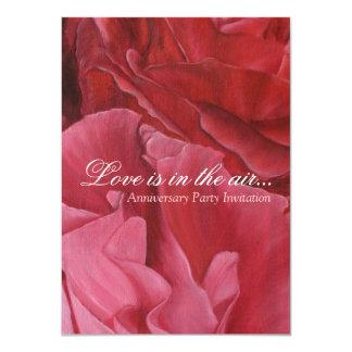 Chic elegant red roses wedding anniversary invites
