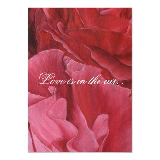 """Chic elegant red roses wedding invites 4.5"""" x 6.25"""" invitation card"""
