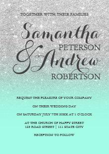 Mint Green Wedding Invitations Zazzle