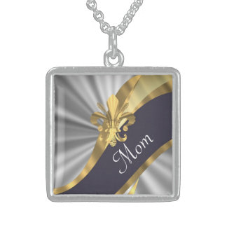 Chic elegant silver mothers day custom jewelry