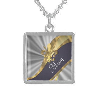 Chic elegant silver mothers day necklace