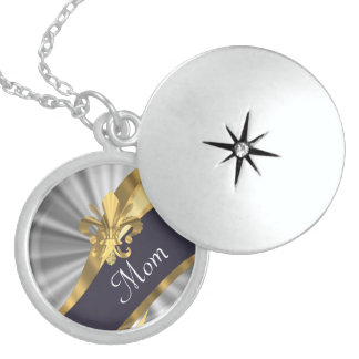 Chic elegant silver mothers day pendant