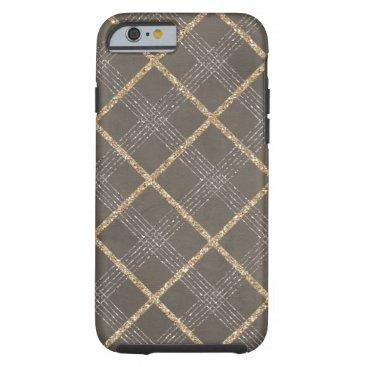 Coffee Themed Chic Elegant Stylish Argyle Tartan Plaid Pattern Tough iPhone 6 Case