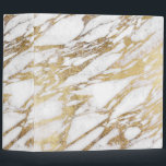 """Chic Elegant White and Gold Marble Pattern Binder<br><div class=""""desc"""">This chic and elegant white and faux printed gold marble pattern is perfect for the trendy and stylish woman. Its glamorous and swanky design is great for many gifts and occasions. Enjoy this pretty and popular print for your next purchase!</div>"""