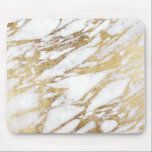 """Chic Elegant White and Gold Marble Pattern Mouse Pad<br><div class=""""desc"""">This chic and elegant white and faux printed gold marble pattern is perfect for the trendy and stylish woman. Its glamorous and swanky design is great for many gifts and occasions. Enjoy this pretty and popular print for your next purchase!</div>"""