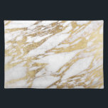 """Chic Elegant White and Gold Marble Pattern Placemat<br><div class=""""desc"""">This chic and elegant white and faux printed gold marble pattern is perfect for the trendy and stylish woman. Its glamorous and swanky design is great for many gifts and occasions. Enjoy this pretty and popular print for your next purchase!</div>"""