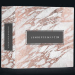 """Chic Elegant White and Rose Gold Marble Pattern Binder<br><div class=""""desc"""">This chic and elegant white and faux printed rose gold marble pattern is perfect for the trendy and stylish woman. Its glamorous and swanky design is great for many gifts and occasions. Enjoy this pretty and popular print for your next purchase!</div>"""