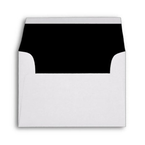 CHIC ENVELOPE_CLASSIC WHITE WITH BLACK INSIDE ENVELOPE