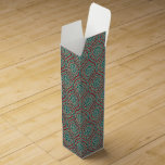 Chic Ethnic Ogee Pattern in Maroon, Teal and Beige Wine Box
