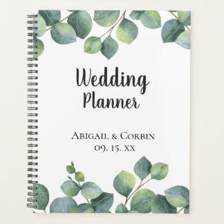 Chic Eucalyptus Foliage Personalized Wedding Planner
