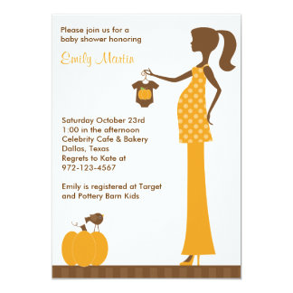 "Chic Fall Mom-to-Be Invitations 5"" X 7"" Invitation Card"