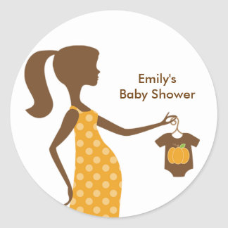 Chic Fall Mom-to-Be Stickers