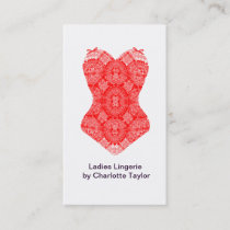 Chic Fashion lingerie Boudoir Corset Business Card