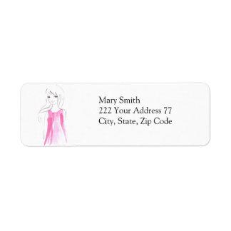 Chic Fashion Sketch Address Label