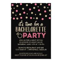 Chic Faux Glitter Bachelorette Party Invitations