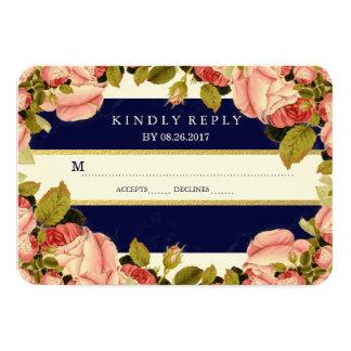 CHIC FAUX GOLD | BOTANICAL WEDDING RESPONSE CARD