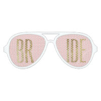 Chic Faux Gold Bride Sunglasses