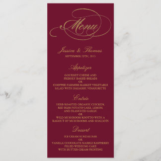 Chic Faux Gold Foil Christmas Menu Template