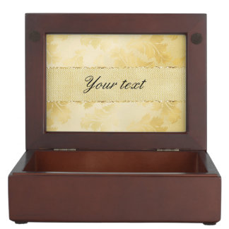 Chic Faux Gold Foil Leaves and Glitter Memory Box