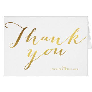 Chic Faux Gold Foil Thank You Notes