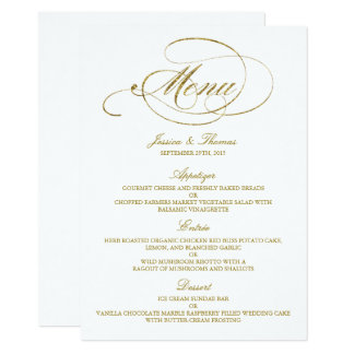Wedding Menus | Zazzle