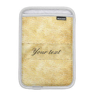 Chic Faux Gold Glitter Chevrons iPad Mini Sleeves