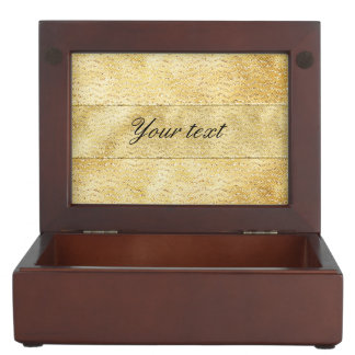 Chic Faux Gold Glitter Chevrons Keepsake Box