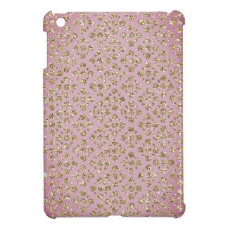 Chic Faux Gold Glitter Dots Mauve iPad Mini Case