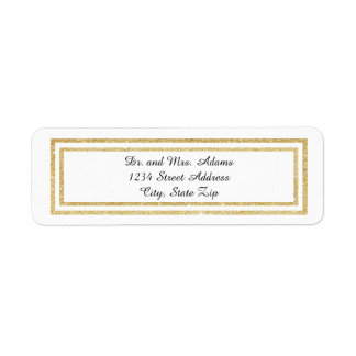 Chic Faux Gold Glitter Trim - Address Label