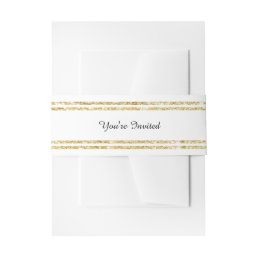 Chic Faux Gold Glitter Trim - Belly Band