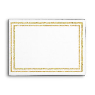 Chic Faux Gold Glittered Trim - Envelope
