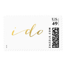 Chic Faux Gold I Do Postage at Zazzle