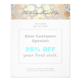 Chic Faux Gold Leaf Circle Pattern Flyer