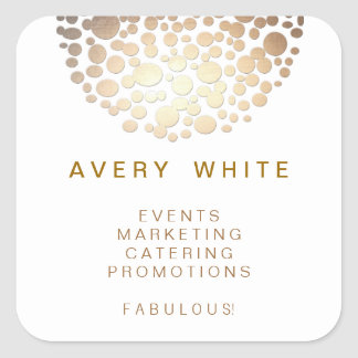 Chic Faux Gold Leaf Circle Pattern Stickers