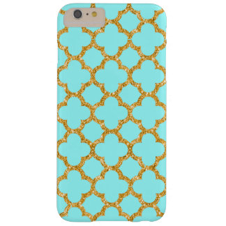 Chic Faux Gold Moroccan Quatrefoil Mosaic Pattern Barely There iPhone 6 Plus Case