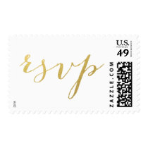 CHIC FAUX GOLD RSVP POSTAGE