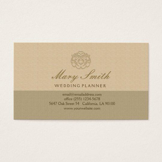Chic Faux Linen Emboss Business Card
