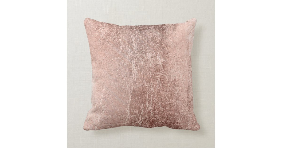 Rose Gold Decorative Pillow : Chic Faux Rose Gold Bride Typography Throw Pillow Zazzle