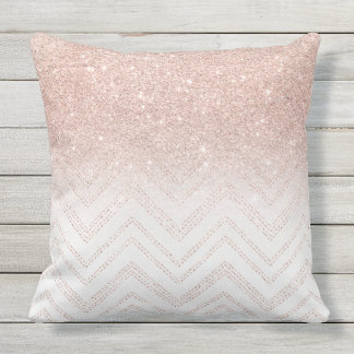 Modern Gold Pillows : Rose Gold Pillows - Decorative & Throw Pillows Zazzle