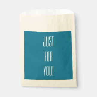 """CHIC FAVOR BAGS_""""Just for You!"""" 146 BLUE Favor Bag"""