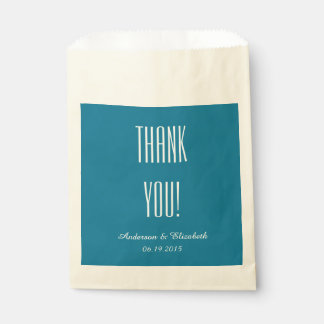 "CHIC FAVOR BAGS_""Thank You"" 146 BLUE Favor Bag"