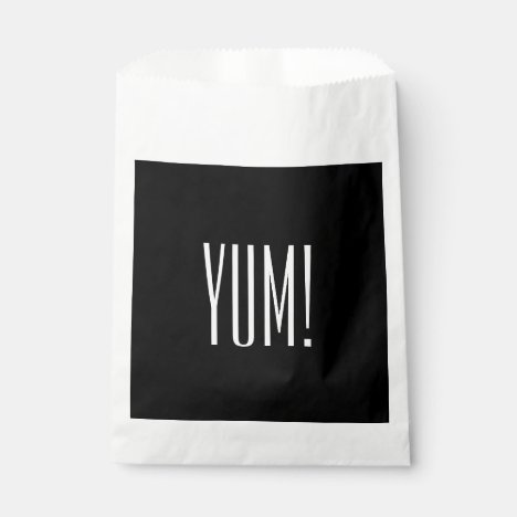 "CHIC FAVOR BAGS_""YUM!"" BLACK/WHITE FAVOR BAG"