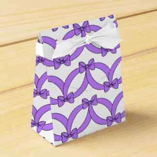 CHIC FAVOR/GIFT BOX_181-09 PURPLE BOWS FAVOR BOX