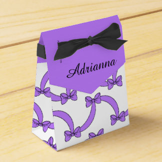 CHIC FAVOR/GIFT BOX_191-09 PURPLE BOWS FAVOR BOX