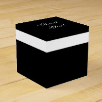 "CHIC FAVOR/GIFT BOX_""Thank You"" BLACK/WHITE Favor Box"