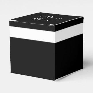 "CHIC FAVOR/GIFT BOX_""Thank You"" BLACK/WHITE Favor Box"
