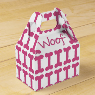 """CHIC FAVOR/GIFT BOX_""""Woof"""" DOG FAVOR BOX"""